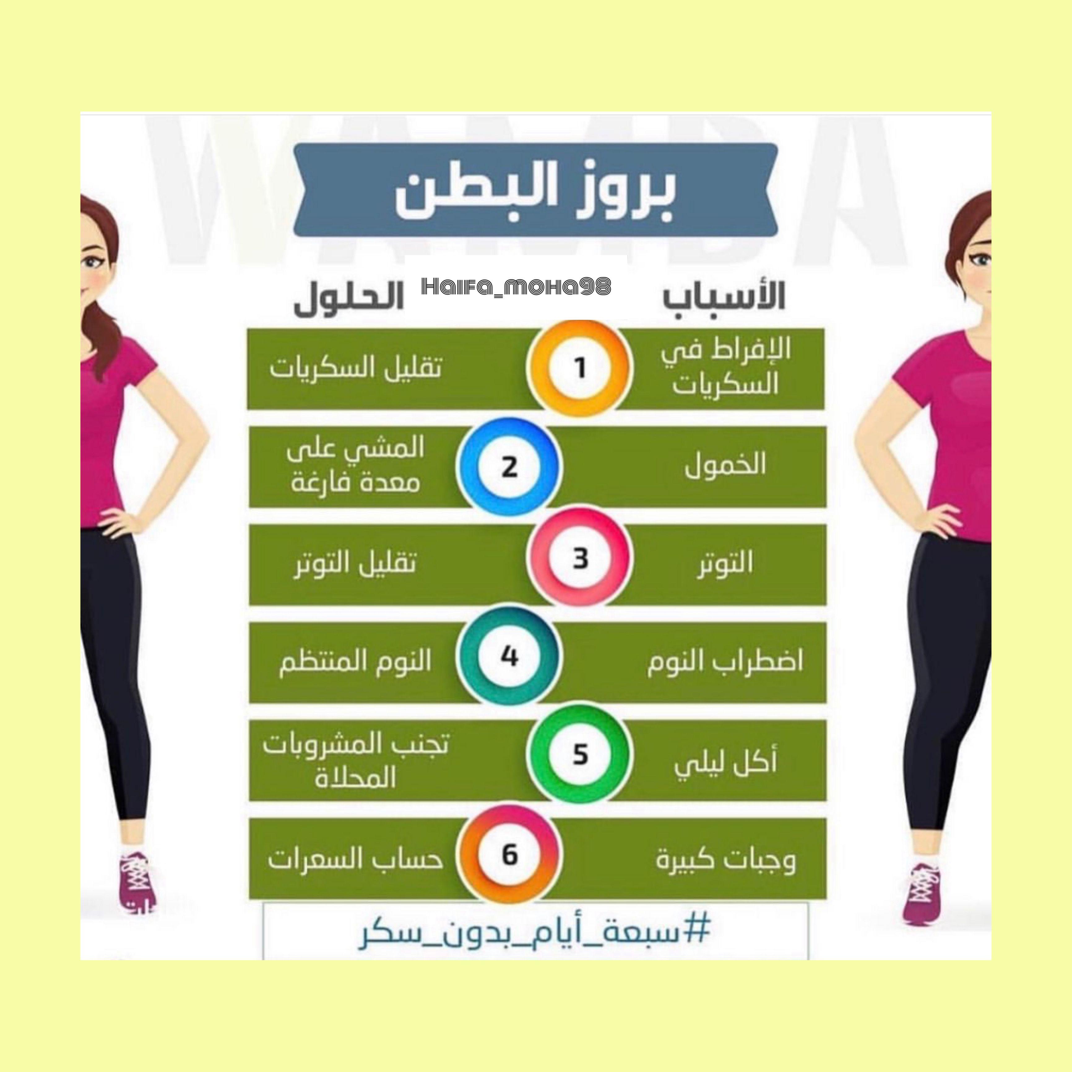 التخلص من الكرش بطن دايت Health Diet Body Skin Care Healthy Habits