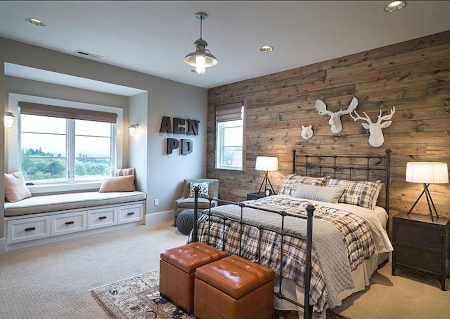 Industrial Decorating Ideas and Tips Farmhouse bedroom