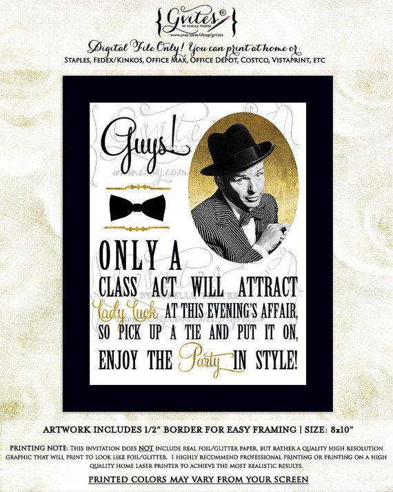 Frank Sinatra Party Decorations