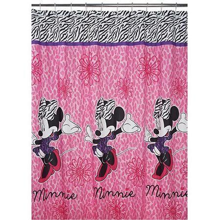 Disney Diva Minnie Fabric Shower Curtain