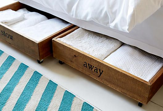Diy Idea Bins With Wheels On The Bottom For Under The Bed