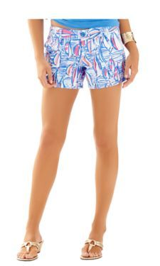 Resort White Red Right Return shorts in an 8
