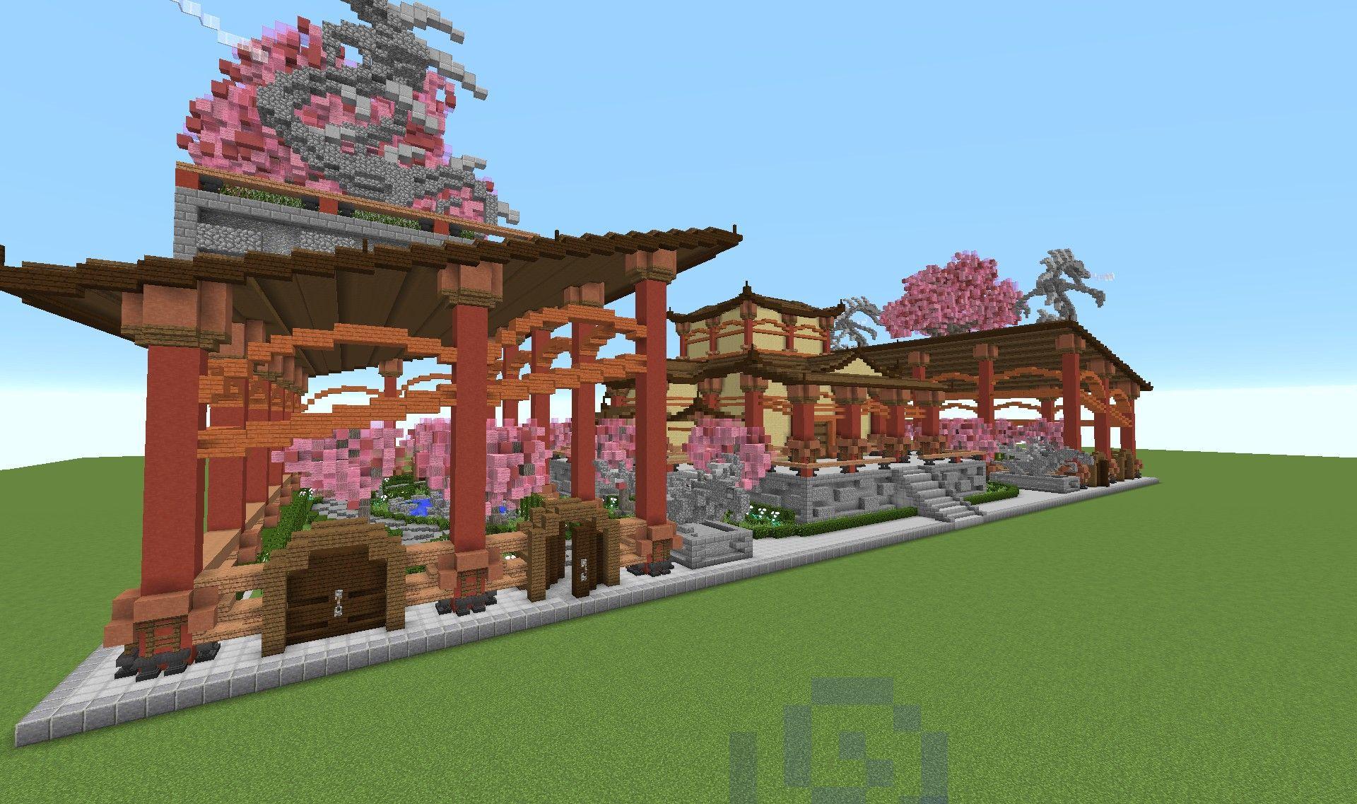 Chinesisches Haus Minecraft  Minecraft mansion, Minecraft