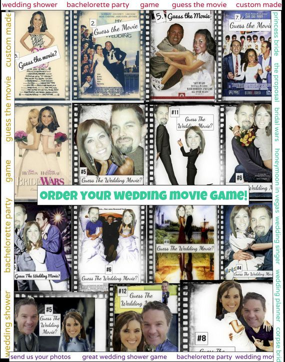 Best Wedding Movies.Bridal Shower Game Guess The Wedding Movie Game Wedding Shower Games