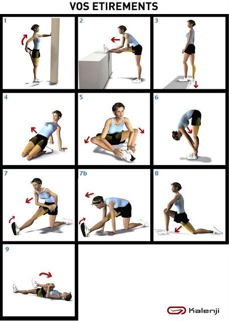 etirements pour s 39 assouplir sport bien tre pinterest yoga fitness fitness et yoga. Black Bedroom Furniture Sets. Home Design Ideas