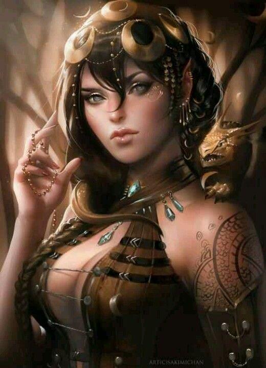 Sexy fantasy art of woman