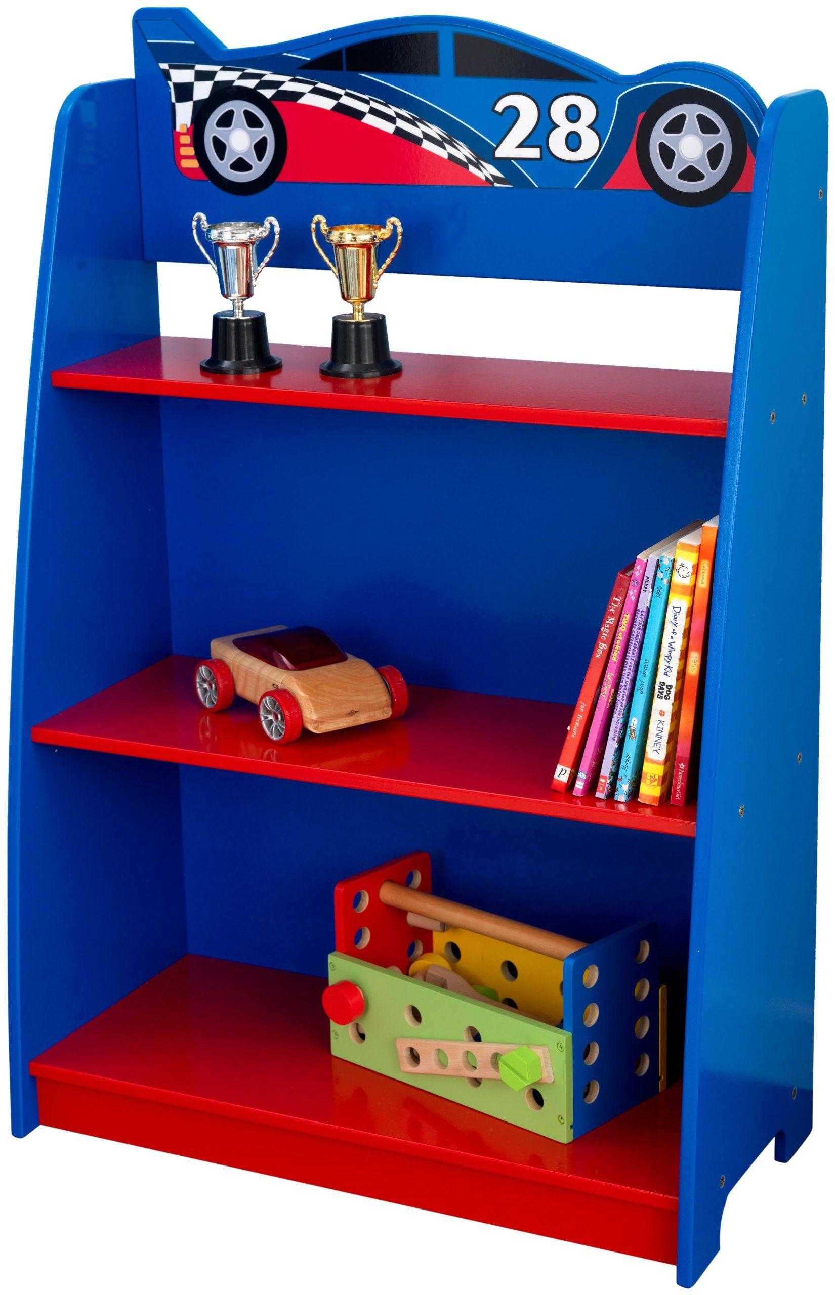 65.99, KidKraft Racecar Bookcase Kids bedroom decor