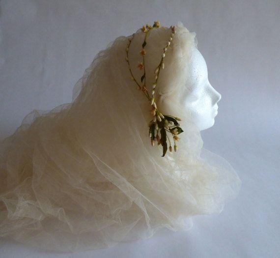 Antique Bridal Millinery Parure De Mariée En Cire France 1920s Wax Tiara Orange Blossom Couronne Fleurs D Orangerie
