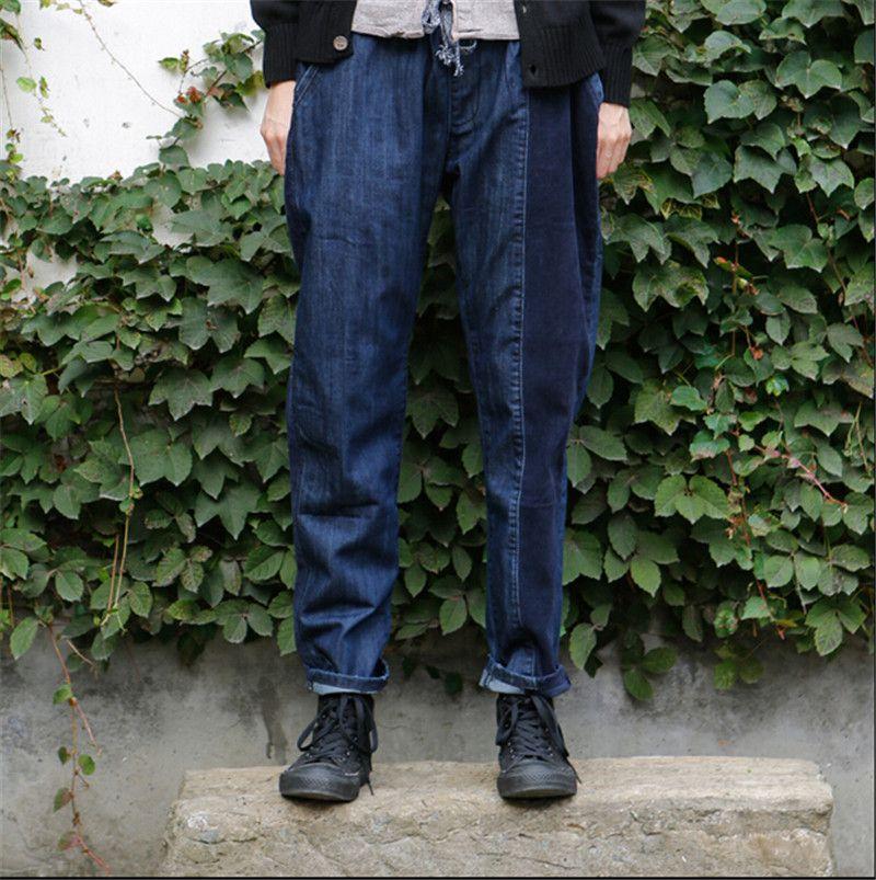 f1cd802e33a New Arrival Baggy Trousers HOT Fashion Hanging Crotch Men Jeans Pant Harem  Pants Men Crotch Big Pants Jeans
