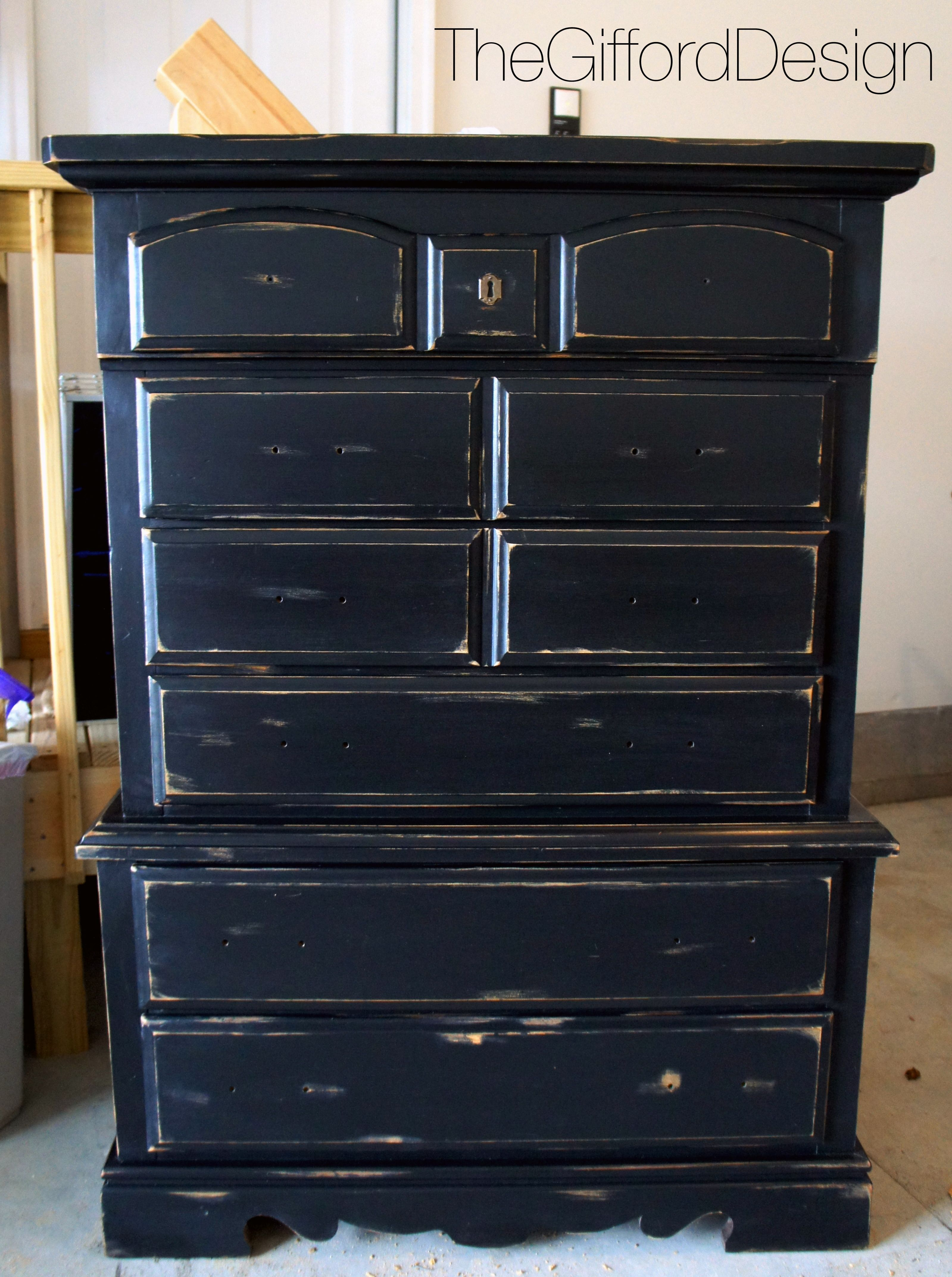 Black U0026 Gold Distressed Dresser @ Thegifforddesign.com