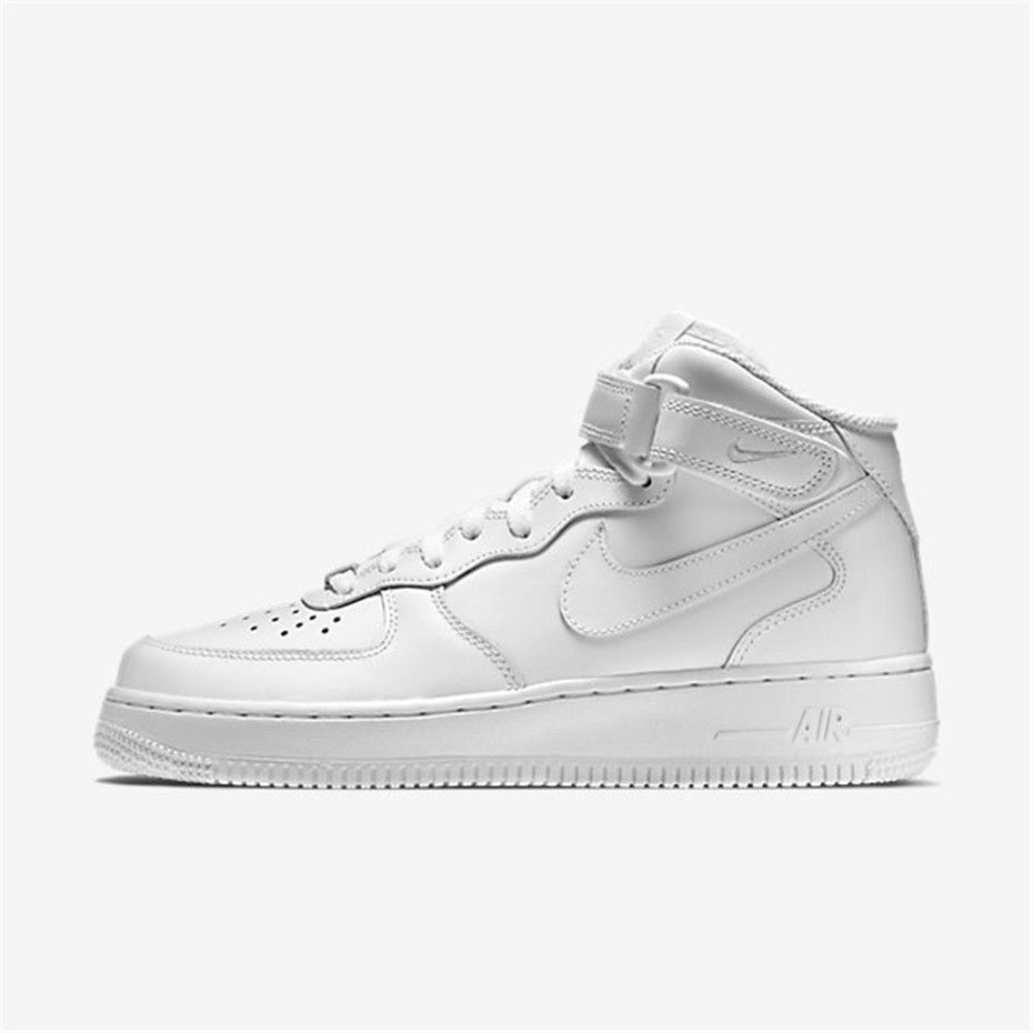 Haute qualité Nike Wmns Air Force 1 Mid '07 Le WhiteWhite