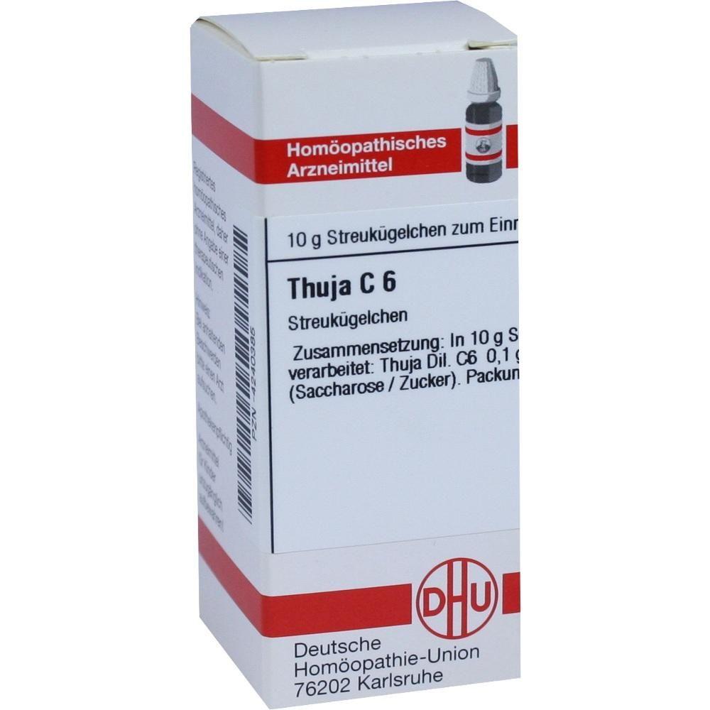 THUJA C 6 Globuli Packungsinhalt 10 g Globuli PZN