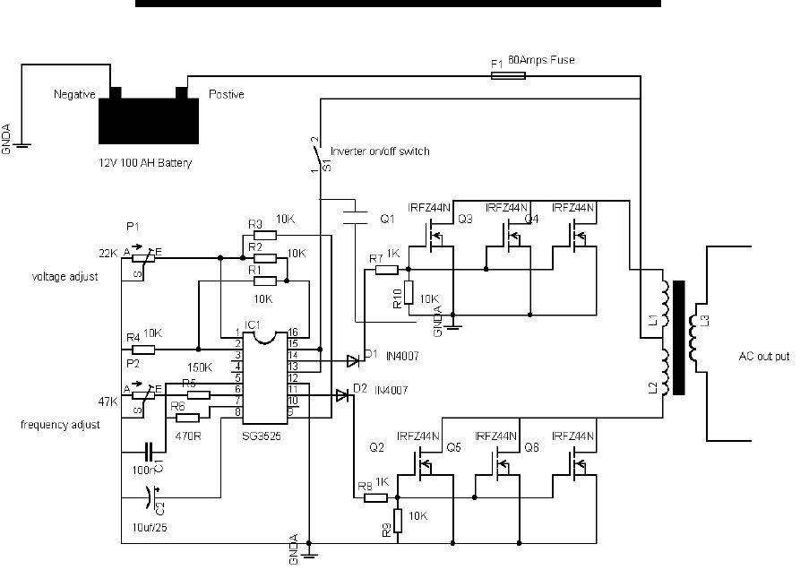 12v 600va inverter project using a transformer salvaged from