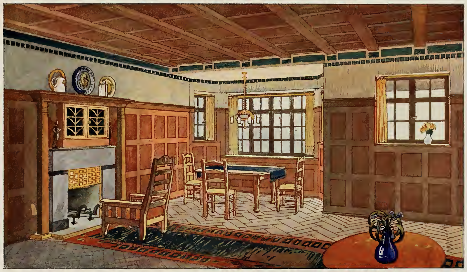 Interiors In Colours 1912 Craftsman Home Decor Craftsman Living Rooms Mission Style Homes