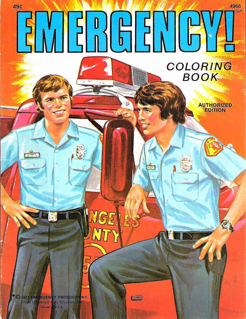 Tv Series Com Emergency Coloring Book From 1977 Tv Shows Emergency Emergency Squad 51