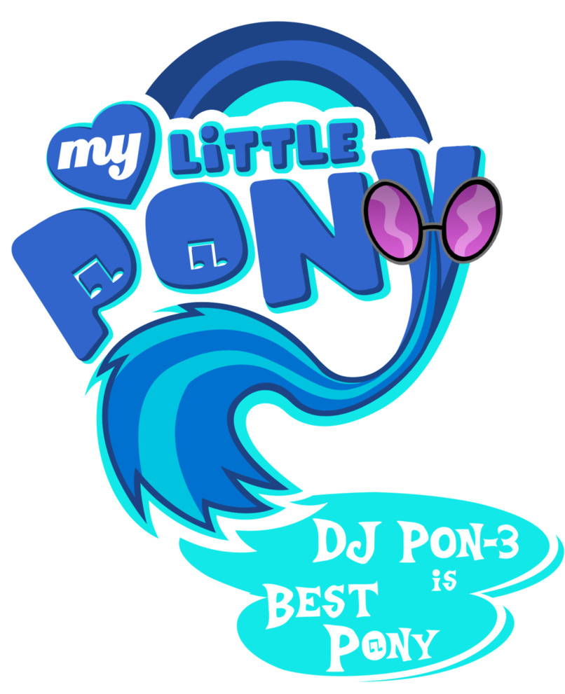 Mlp coloring pages dj pon 3 - My Little Pony Logo Dj Pon 3 By Jamescorck