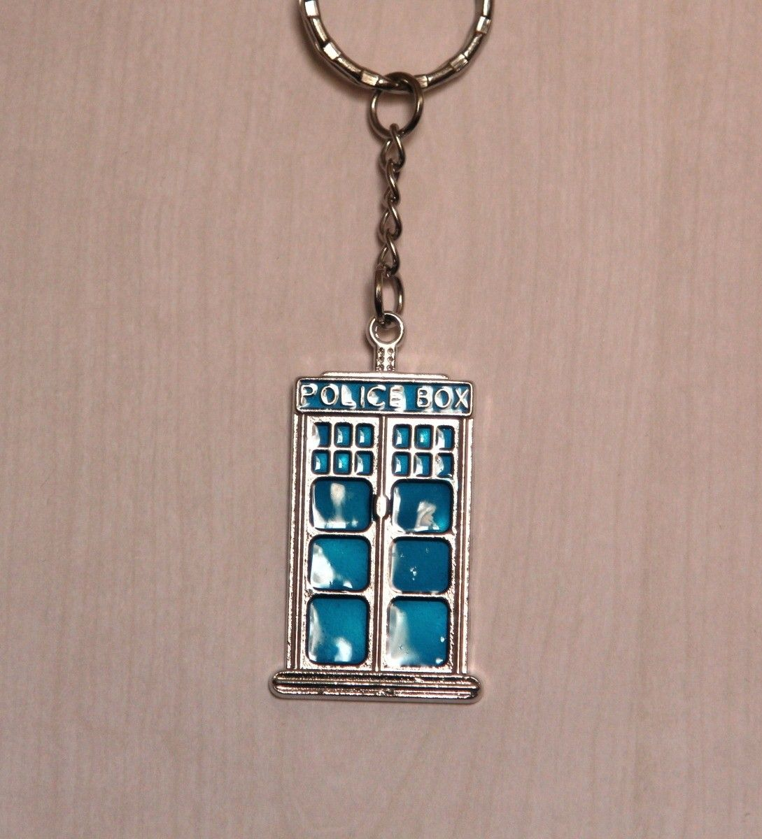Doctor Who Blue Tardis Pendant Keychain The Tardis is the doctor\'s ...