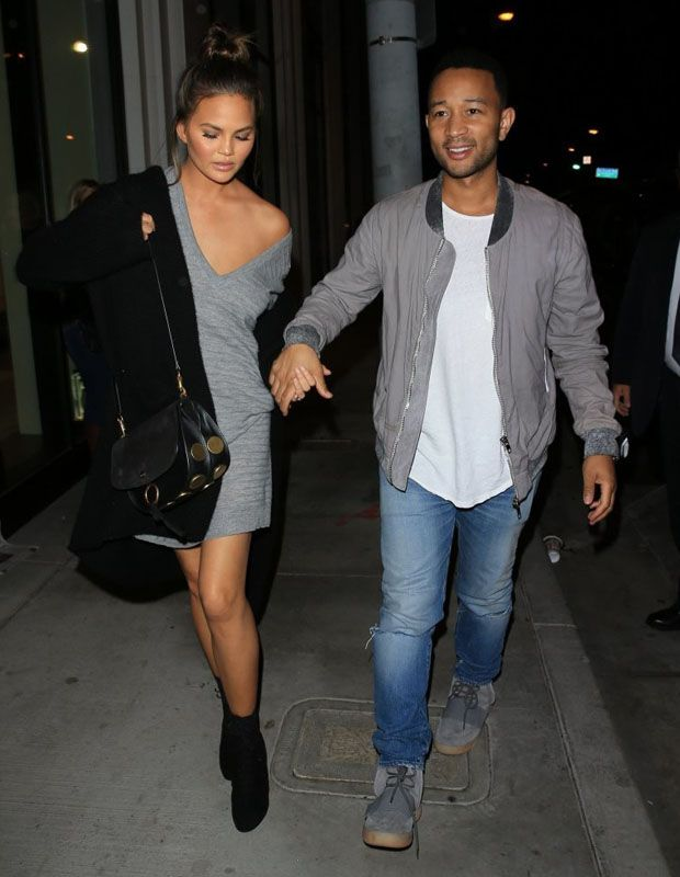 John Legend in the adidas Yeezy Boost 750 Grey/Gum