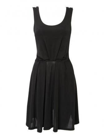 Women Sexy Solid Color Back Hollow Out Black Pink White Dress