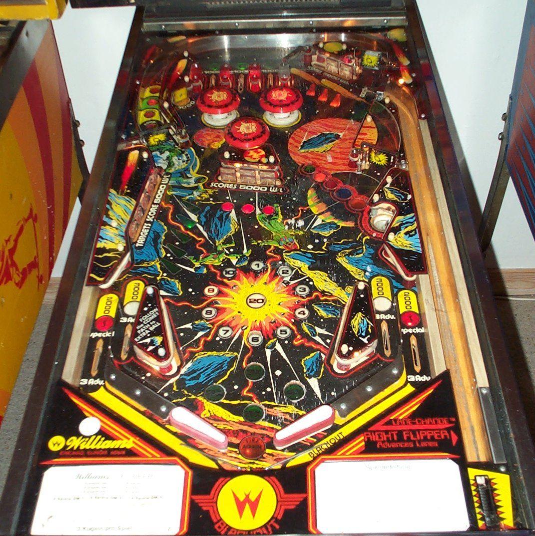 williams blackout 1980 pinball machine Google Search