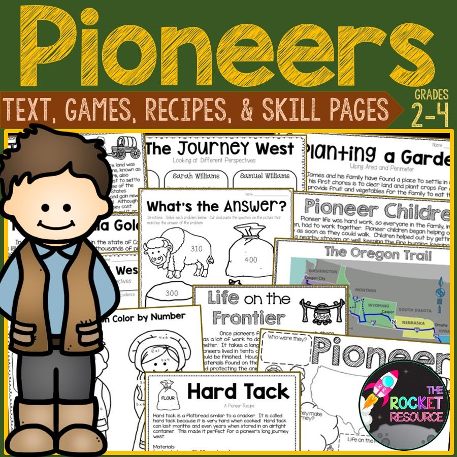 Pioneers Informational Text Pioneer Games Pioneer Recipes And More Math Skills Practice Ela Activities Informational Reading Passages [ 900 x 900 Pixel ]