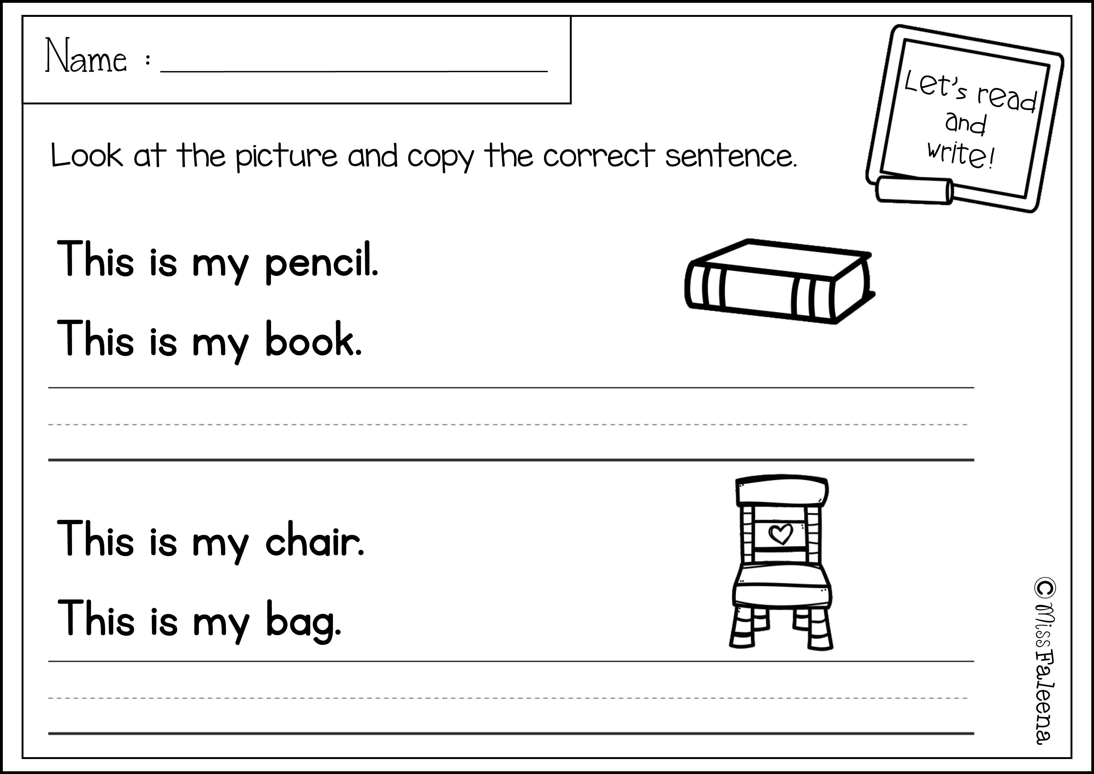Free Sentence Writing With Images Writing Sentences
