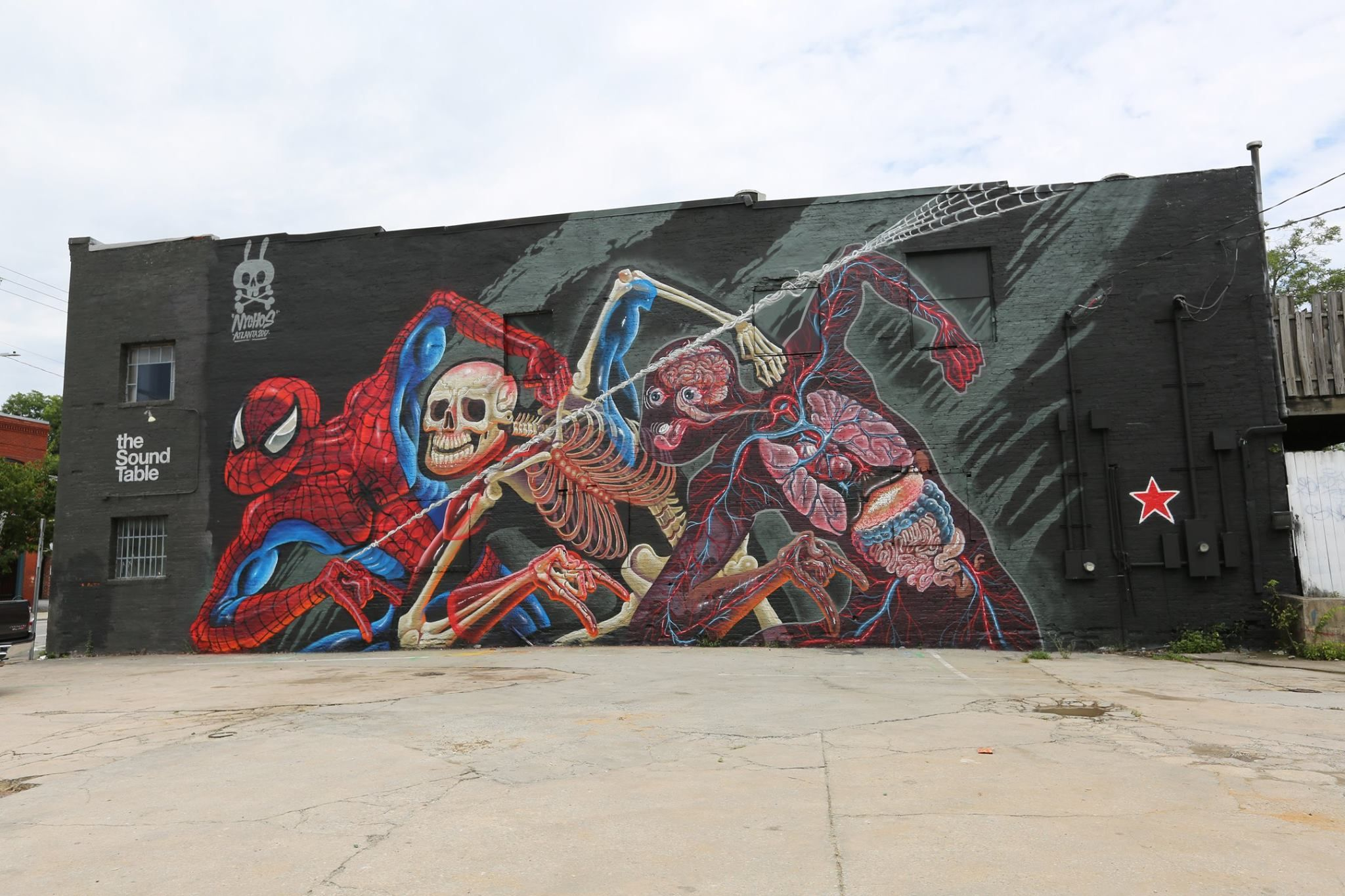Nychos anatomy of spiderman in atlanta georgia for outta space project 2017