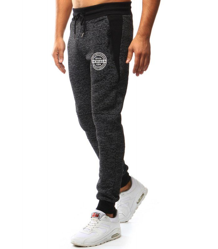 6ae7e2efcae3 Čierne pánske teplákové nohavice