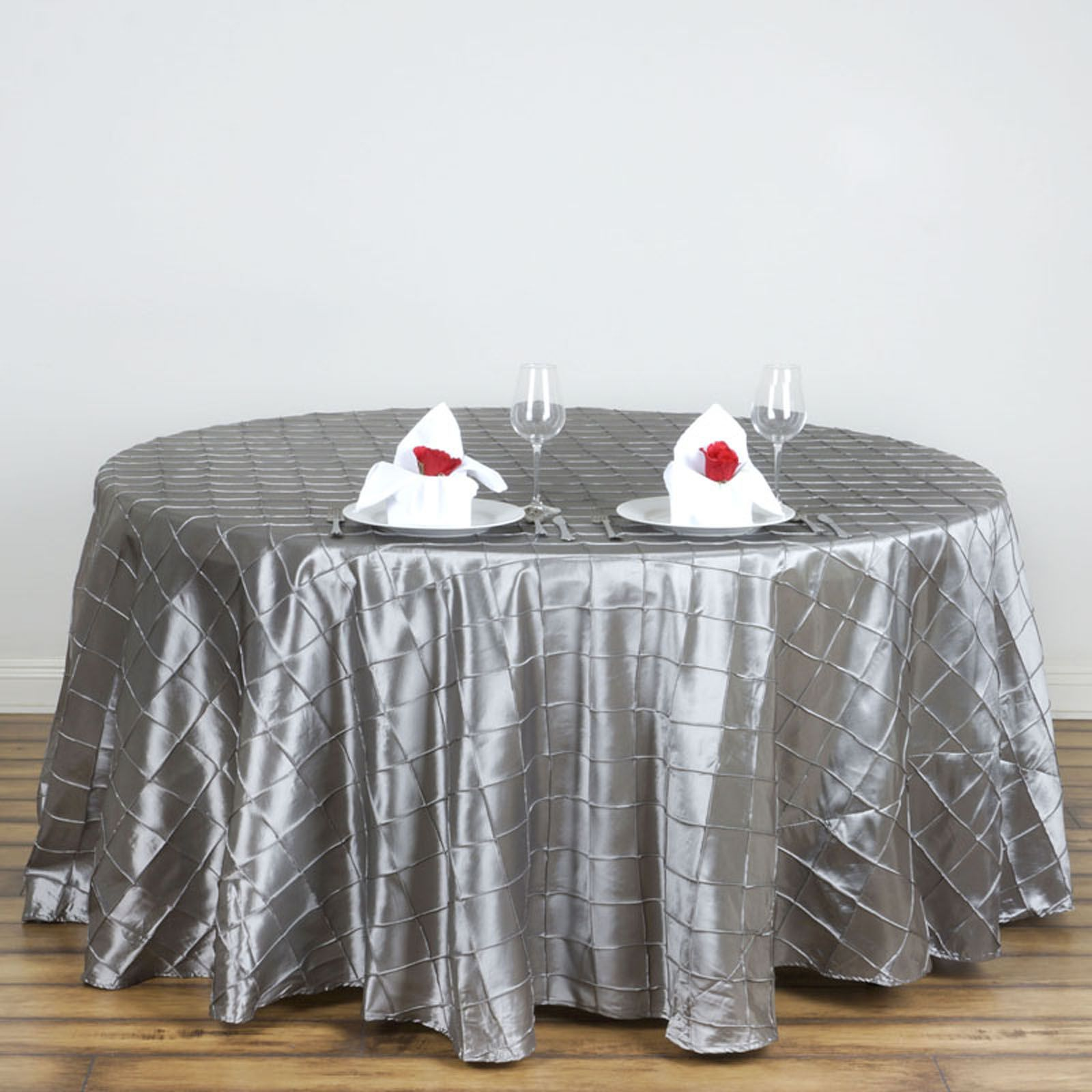 Captivating 120 Pintuck Fancy Round Tablecloths Linens Wedding Party