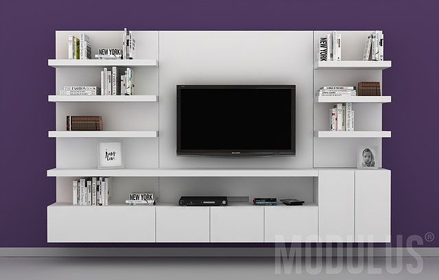 Modulares para living tv lcd led wall unit muebles for Muebles modulares
