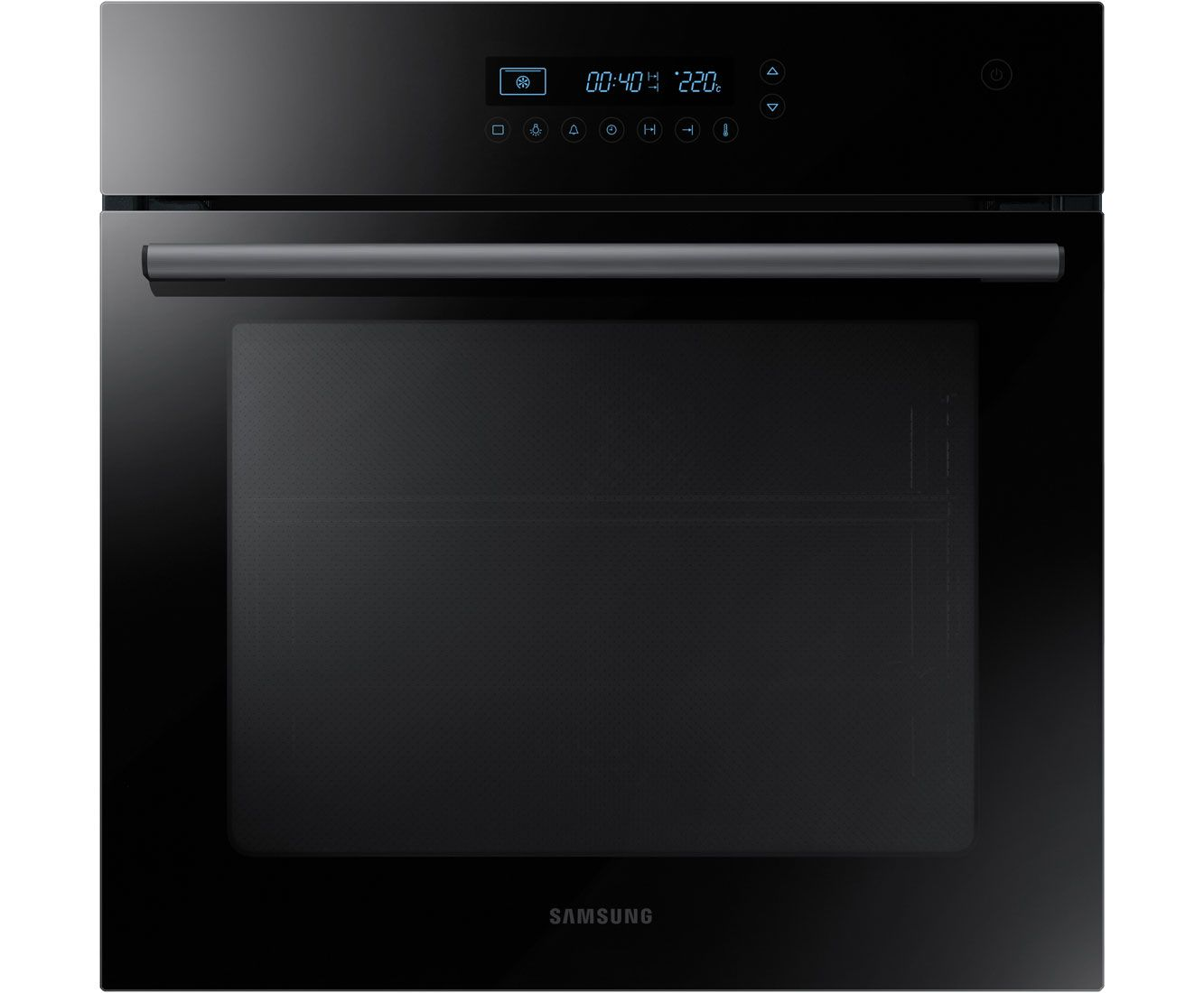 Samsung NV70H5587CB Built In Electric Single Oven - Black / Glass ...