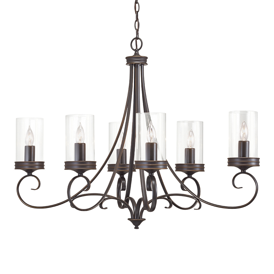Kichler Diana 6 Light Olde Bronze French Country Cottage Clear