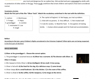 la vit atilde nbsp atilde uml bella essay questions doc movie activities this is a worksheet to work about of the movie oliver twist released in the year my students and i were working the rights of the children and i