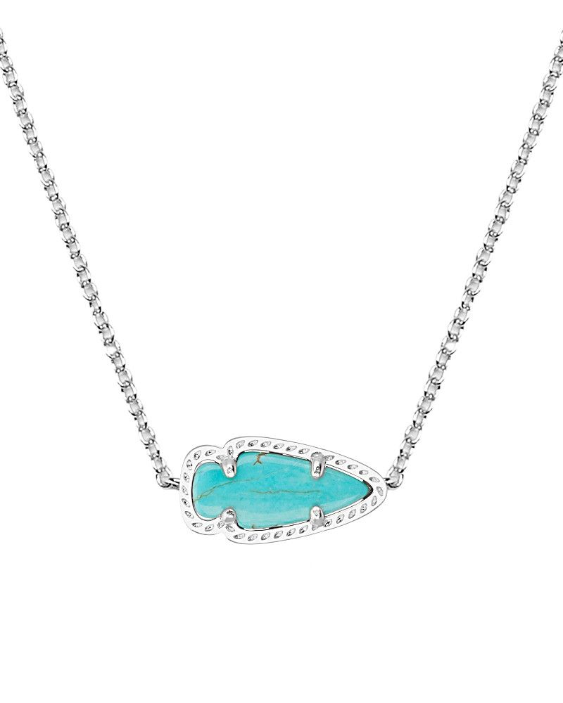 Skylie silver pendant necklace in turquoise kendra scott jewelry