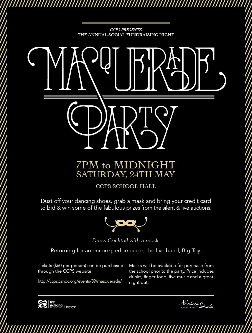 Masquerade Ball Flyer Landscape / Portrait Version | Party events ...
