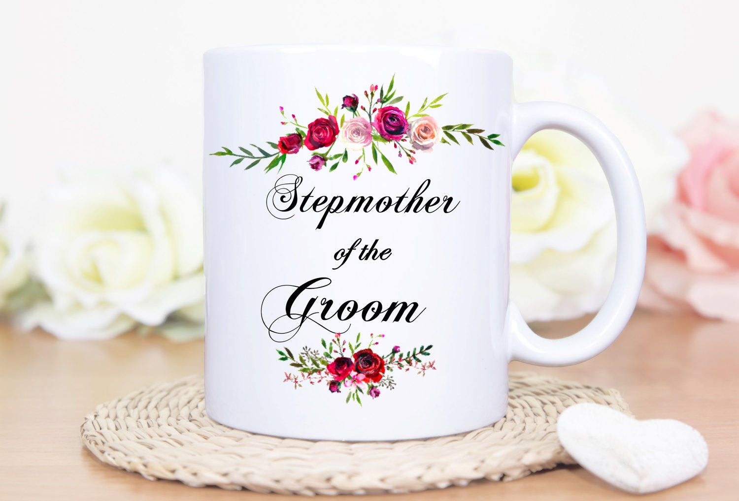 Stepmother of The Groom Mug - Stepmother Mug - Bridal Mugs - Wedding ...