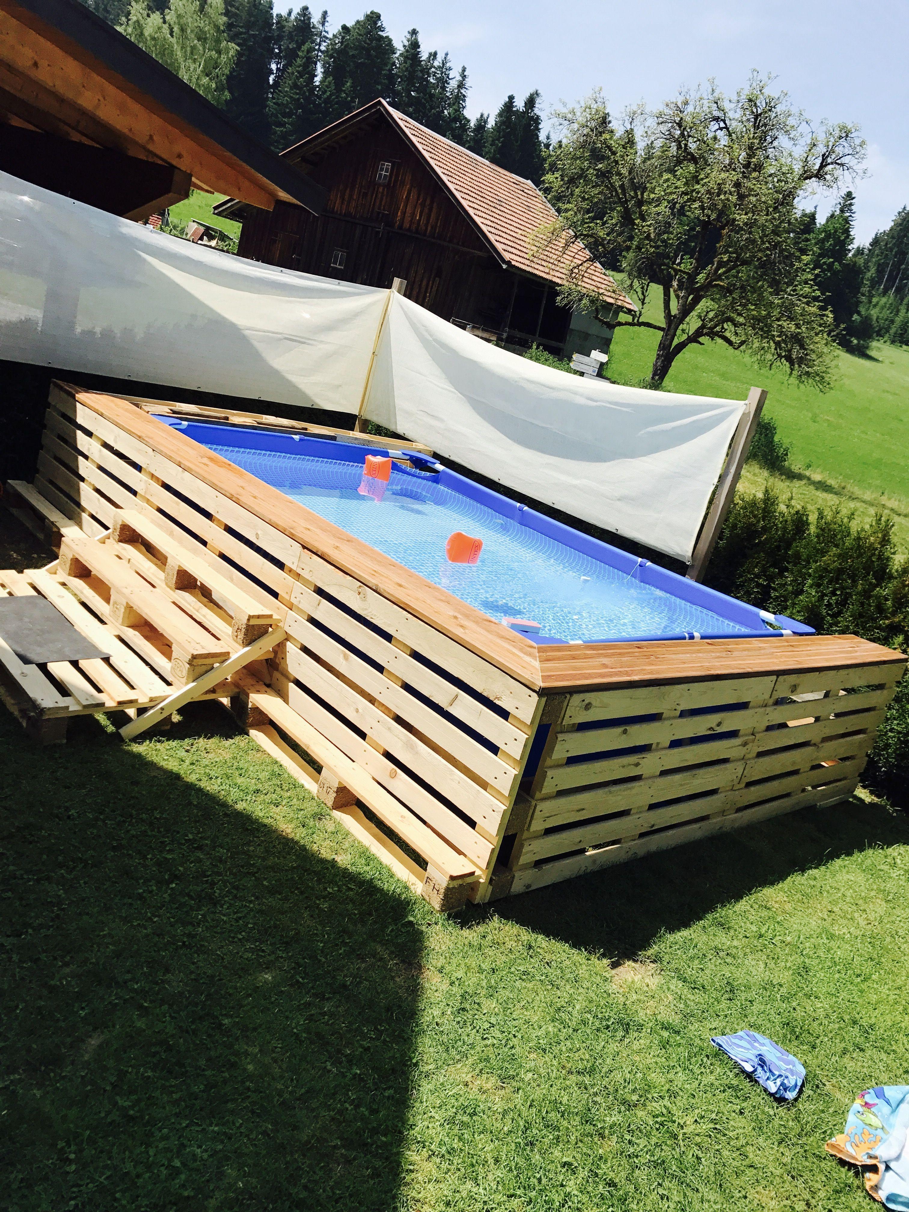 Paletten Pool Diy Pool Diy Swimming Pool Swimming Pools