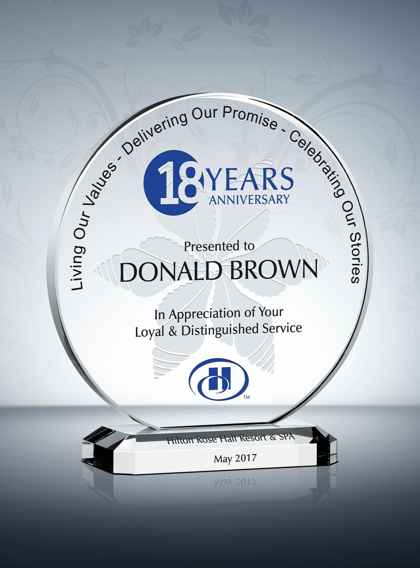 Circle Years Of Service Award Plaque Award Plaques Service Awards Plaque