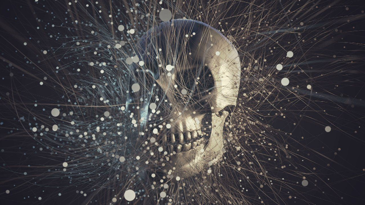 Skull Swarm: X-Particles Example