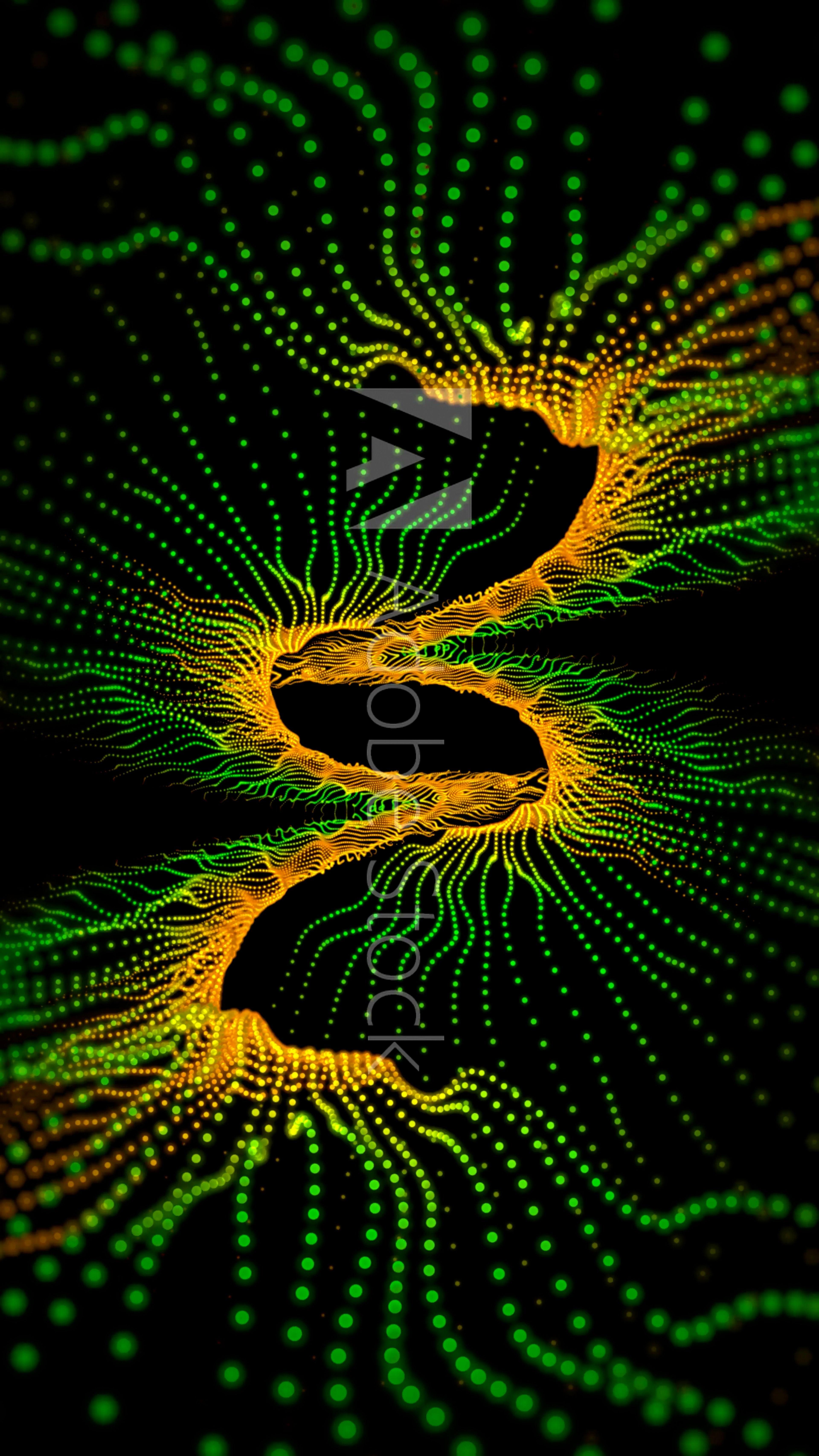Green Yellow Abstract Fractal Form Abstract Fractal Art Fractal Design