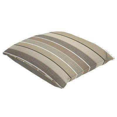"Eddie Bauer Sunbrella Single Piped Lumbar Pillow Size: 18"" H x 24"" W, Color: Milano Char"