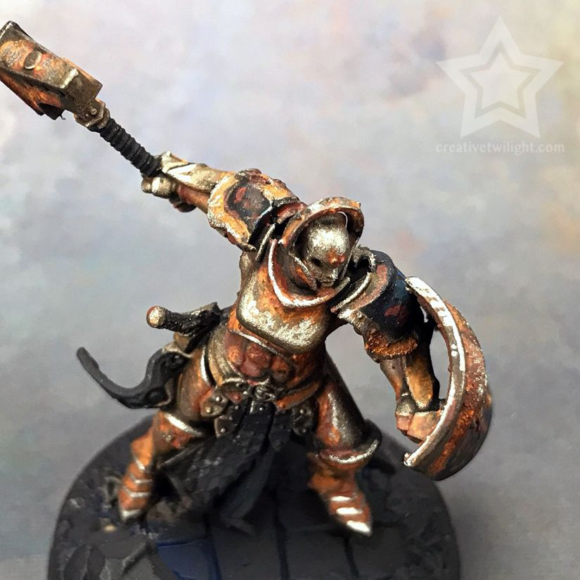 How To Paint A Realistic Rust Effect For Miniatures Tutorial Miniatures Tutorials Miniatures Painting