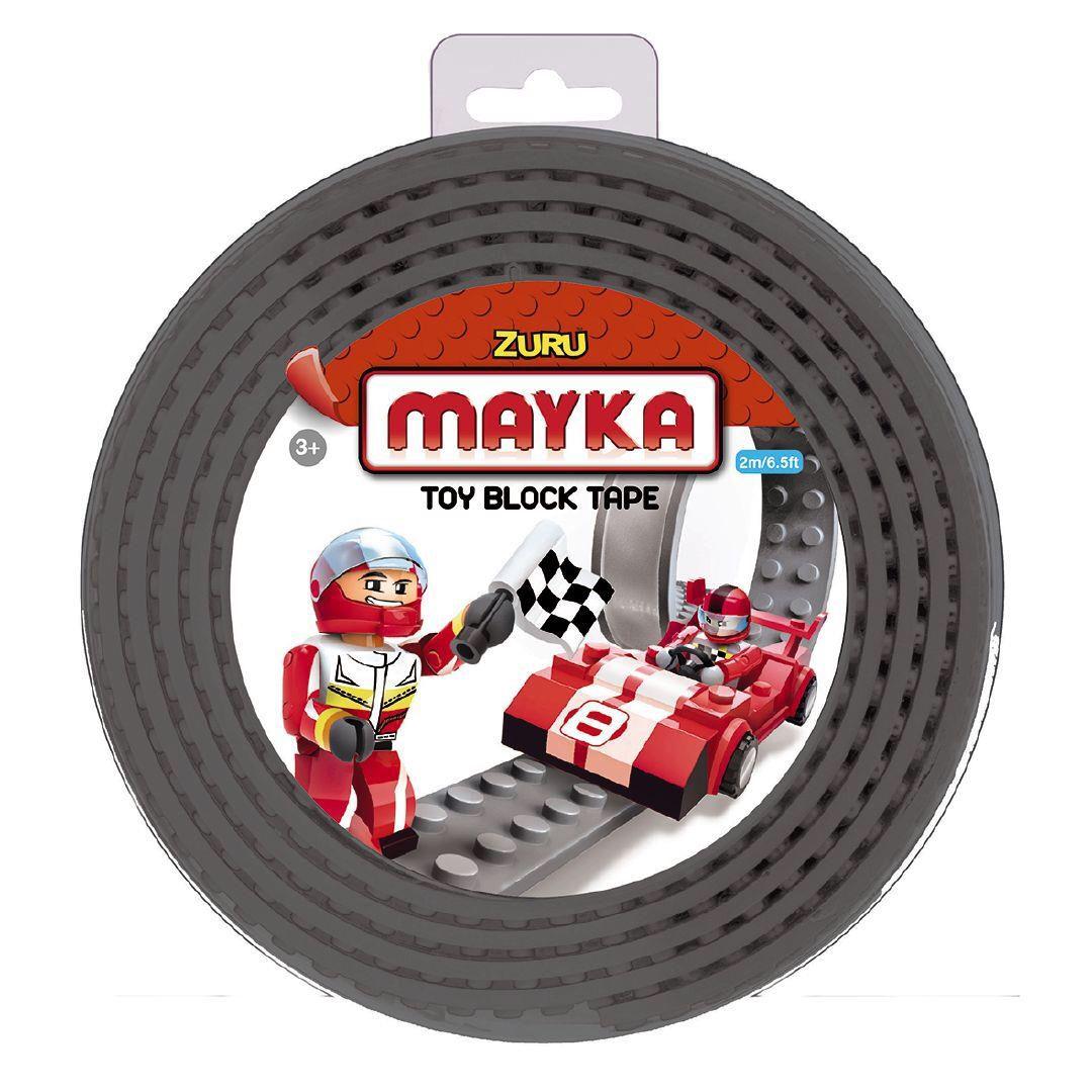 Zuru Mayka Toy Block Tape 2m 2 Stud For Lego /& Other Block Toys GREY