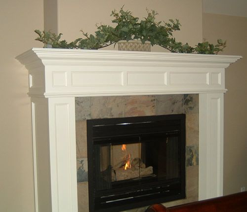 Image detail for -Heritage Fireplace Mantel Designs by Hazelmere Fireplace  Mantels .OMG I LOVEE the mantel and the way the color tile (even tho i  wouldn't ...