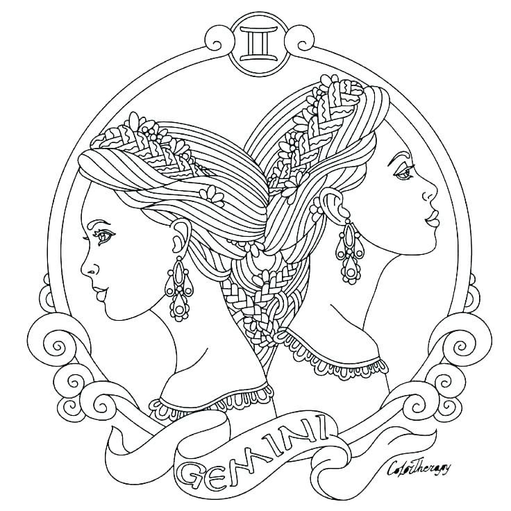astrology coloring pages zodiac signs good print chinese