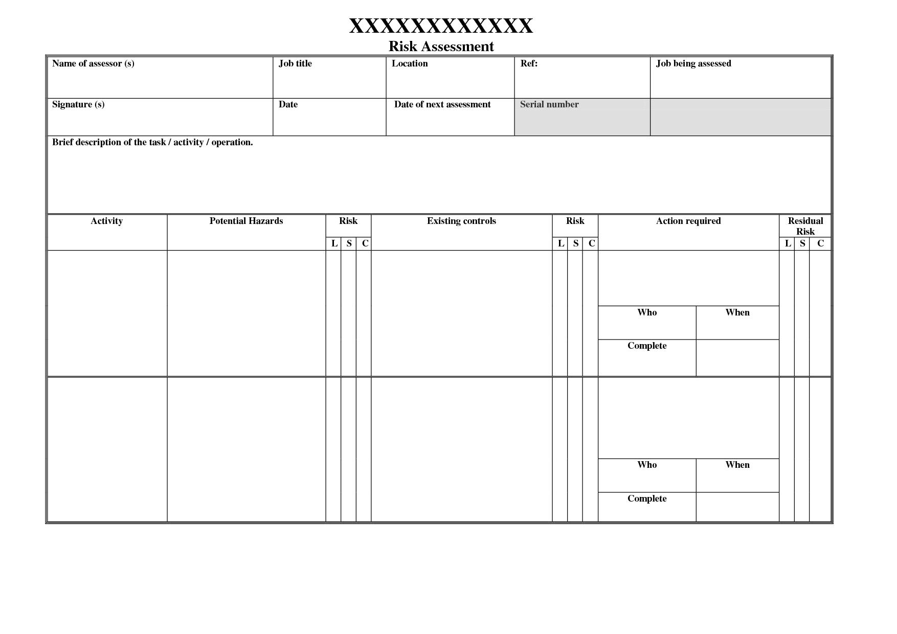 data center risk assessment template - blank risk assessment invitation templates designsearch