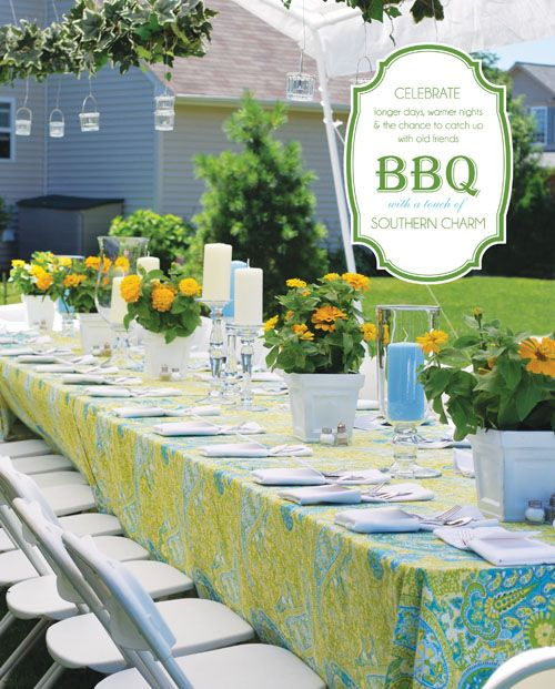 Is this a little too fancy it 39 s pretty love the colors for Backyard bbq decoration ideas