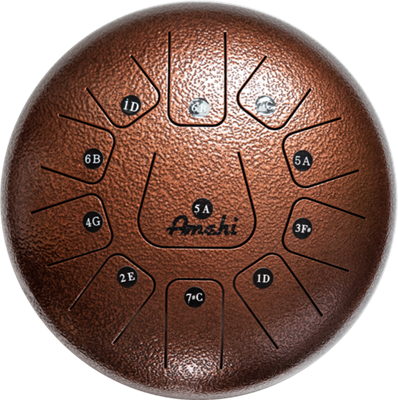 Amahi Klg12 11bz 12 Steel Tongue Drum 11 Note D Major Bronze In 2020 Drum Notes Drums Bronze