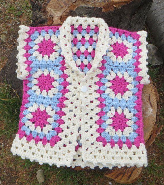Photo of Baby Tunic Crochet Baby Vest  Baby Girl Coat Crochet Warm Vest Baby Girl Clothes Pink Vest Handmade Baby Clothes Crochet Newborn Jacket