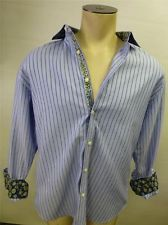 mens ROBERT GRAHAM RG long sleeve B/U dress SHIRT sz XL X Large blue striped